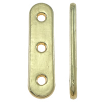 Zinc Alloy Spacer Bar, Rectangle, real gold plated, high quality plating and never fade & 3-strand, lead & cadmium free, 24x6x2mm, Hole:Approx 2mm, 20PCs/Bag, Sold By Bag