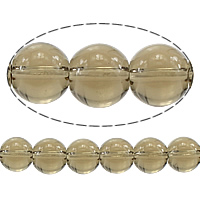 Natural Smoky Quartz Beads, Round, 8mm, Hole:Approx 2mm, Length:Approx 15.5 Inch, 10Strands/Lot, Approx 48PCs/Strand, Sold By Lot