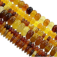 Madagascar Agate Beads, Flat Round, different size for choice, coffee color, Hole:Approx 1mm, Length:Approx 15 Inch, Sold By Lot