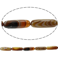 Madagascar Agate Beads, Oval, coffee color, 30x10mm, Hole:Approx 1.5mm, Length:Approx 14 Inch, 3Strands/Lot, Approx 12/Strand, Sold By Lot