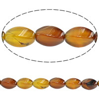 Madagascar Agate Beads, Star Fruit, different size for choice, coffee color, Length:Approx 15 Inch, Sold By Lot