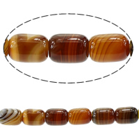 Madagascar Agate Beads, Oval, different size for choice, coffee color, Hole:Approx 1mm, Length:Approx 15 Inch, Sold By Lot