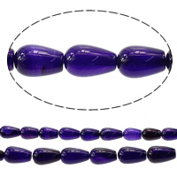 Madagascar Agate Beads, Teardrop, different size for choice, purple, Hole:Approx 1.2mm, Length:Approx 15 Inch, Sold By Lot