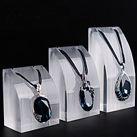 Organic Glass Necklace Display, drawbench, 50x35x63mm,50x35x81mm,50x35x102mm, 3Sets/Lot, 3PCs/Set, Sold By Lot