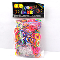 Rubber Band Refill, with Plastic, mixed colors, 18x2mm, 50Bags/Lot, 600PCs/Bag, Sold By Lot