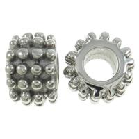 RVS European Beads, Roestvrij staal, Rondelle, zonder troll, oorspronkelijke kleur, 11x7mm, Gat:Ca 5mm, Verkocht door PC