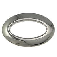Roestvrij staal ring connectors, Plat Ovaal, oorspronkelijke kleur, 24x16x2.50mm, 50pC's/Lot, Verkocht door Lot