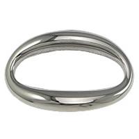 Roestvrij staal ring connectors, Plat Ovaal, oorspronkelijke kleur, 27x17x4mm, 50pC's/Lot, Verkocht door Lot