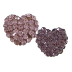 Rhinestone Resin Beads, Heart, with rhinestone, more colors for choice, 13x11mm, Hole:Approx 2mm, 100PCs/Lot, Sold By Lot