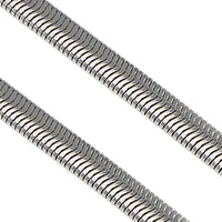 Stainless Steel Snake Chain, original color, 4x2mm, 100m/Lot, Sold By Lot