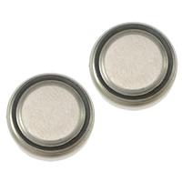 литий аккумулятор, Плоская круглая форма, Платиновое покрытие платиновым цвет, не содержит никель, свинец, 9.50x3mm, 50Наборы/Лот, продается Лот