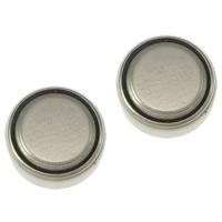 литий аккумулятор, Плоская круглая форма, Платиновое покрытие платиновым цвет, не содержит никель, свинец, 9.50x3.50mm, 50Наборы/Лот, продается Лот