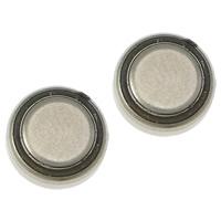 литий аккумулятор, Плоская круглая форма, Платиновое покрытие платиновым цвет, не содержит никель, свинец, 7x2mm, 100Наборы/Лот, продается Лот