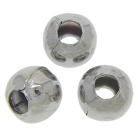 Iron Jewelry Beads, Round, plumbum black color plated, nickel, lead & cadmium free, 4mm, Hole:Approx 2mm, 500PCs/Bag, Sold By Bag