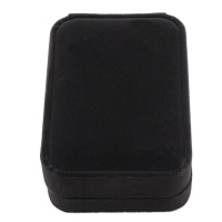 Velveteen Jewelry Set Box, pendant & necklace, with Plastic, Rectangle, black, 70x100x35mm, 10PCs/Lot, Sold By Lot