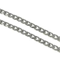 Łańcucha krawężnika ze stali nierdzewnej, Stal nierdzewna, łańcucha krawężnika, oryginalny kolor, 7x5x1.50mm, 100m/wiele, sprzedane przez wiele