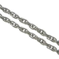 Łańcuch Lina ze stali nierdzewnej, Stal nierdzewna, lina łańcucha, oryginalny kolor, 6x4x1mm, 100m/wiele, sprzedane przez wiele