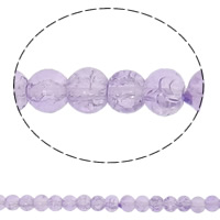 Crackle Glass Beads, Round, purple, 4mm, Hole:Approx 1.5mm, Length:Approx 31 Inch, Approx 10Strands/Bag, Sold By Bag