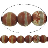 Natural Tibetan Agate Dzi Beads, Round, two tone, 8mm, Hole:Approx 1mm, Length:Approx 14.5 Inch, 10Strands/Lot, Approx 47PCs/Strand, Sold By Lot