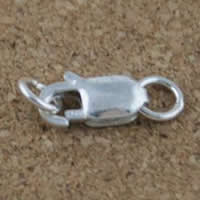 Brass Lobster Clasp, real silver plated, different size for choice, lead & cadmium free, 30PCs/Bag, Sold By Bag