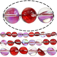 Glass Beads, Round, half-plated, more sizes for choice, Hole:Approx 1mm, Sold By Lot