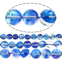 Glass Bead, Round, half-plated, more sizes for choice, Hole:Approx 1mm, Sold By Lot