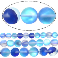 Glass Beads, Round, plated, more sizes for choice & frosted, Hole:Approx 1mm, Sold By Lot