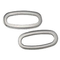 Roestvrij staal ring connectors, Ovaal, oorspronkelijke kleur, 16x8x1.20mm, Gat:Ca 13x4.5mm, 1000pC's/Lot, Verkocht door Lot