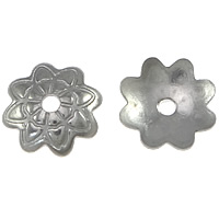Stainless Steel Bead Cap, Flower, original color, 7x7x1.50mm, Hole:Approx 1mm, 3000PCs/Lot, Sold By Lot
