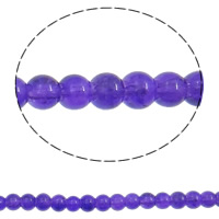 Crackle Glass Beads, Round, purple, 4mm, Hole:Approx 1.5mm, Length:Approx 31 Inch, 10Strands/Bag, Sold By Bag