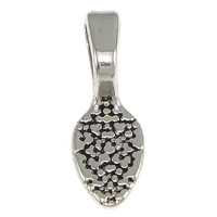 Zinc Alloy Glue on Bail, Leaf, platinum color plated, blacken, nickel, lead & cadmium free, 7x21x6mm, Hole:Approx 7x4mm, 1000PCs/Lot, Sold By Lot