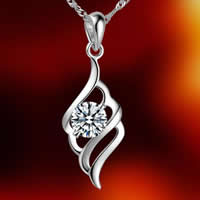 Rhinestone Brass Pendants, silver color plated, with rhinestone, nickel, lead & cadmium free, 9x29mm, Hole:Approx 2-7mm, 20PCs/Bag, Sold By Bag