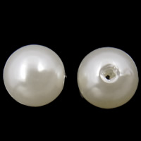 Plastic Beads ABS Plastic Round white 8mm Hole:Approx 2mm Approx 2000PCs/Bag