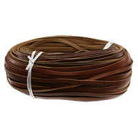 Cowhide Ribbon, brown, 7x2mm, 100Yard/Lot, Sold By Lot