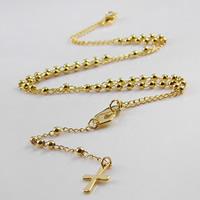 Четки Ожерелье, нержавеющая сталь, плакирован золотом, твист овал, 3mm, 9mm, 95mm, длина:Приблизительно 16 дюймовый, 10пряди/Лот, продается Лот