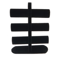 Velveteen Bracelet Display, with Wood, black, 240x329x100mm, 5PCs/Lot, Sold By Lot