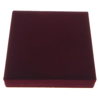 Velveteen Jewelry Set Box, finger ring & earring & necklace, with Plastic, Square, red, 157x157x32mm, 10PCs/Lot, Sold By Lot