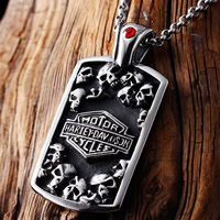Titanium Steel Pendants, Rectangle, with letter pattern & with cubic zirconia & blacken, 30x50mm, Hole:Approx 3-5mm, 5PCs/Bag, Sold By Bag