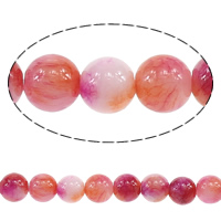 Fashion Glass Beads, Round, imitation ​persian jade, pink, 6mm, Hole:Approx 0.8mm, Length:Approx 16 Inch, 20Strands/Lot, Approx 70/Strand, Sold By Lot