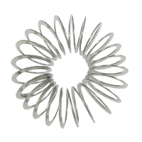 Stainless Steel Large Hole Bead, Flower, original color, 32x32x11mm, Hole:Approx 9mm, 100PCs/Lot, Sold By Lot