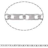 Łańcuch ze stali nierdzewnej Valentino, Stal nierdzewna, Valentino łańcucha, oryginalny kolor, 4x1.50x0.30mm, 10m/torba, sprzedane przez torba