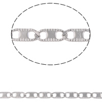 Łańcuch ze stali nierdzewnej Valentino, Stal nierdzewna, Valentino łańcucha, oryginalny kolor, 6.90x2.90x0.50mm, 10m/torba, sprzedane przez torba