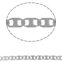 Łańcuch ze stali nierdzewnej Valentino, Stal nierdzewna, Valentino łańcucha, oryginalny kolor, 11x5x0.50mm, 10m/torba, sprzedane przez torba
