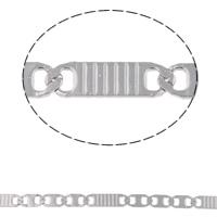 Łańcuch ze stali nierdzewnej Valentino, Stal nierdzewna, Valentino łańcucha, oryginalny kolor, 9.5x4.5x1mm, 15.5x4.5x1mm, 10m/torba, sprzedane przez torba