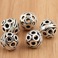 Thailand Sterling Silver Beads, Lantern, hollow, 8mm, Hole:Approx 1mm, 10PCs/Bag, Sold By Bag