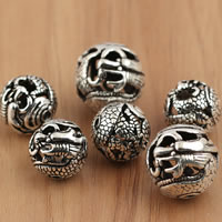 Thailand Sterling Silver Beads, Round, different size for choice & hollow, Sold By Bag