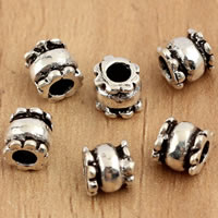 Thailand Sterling Silver Beads, Column, 4.5x4.7mm, Hole:Approx 2mm, 20PCs/Bag, Sold By Bag