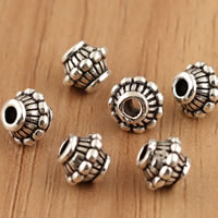 Thailand Sterling Silver Beads, Lantern, 6.5x5.7mm, Hole:Approx 1.5mm, 10PCs/Bag, Sold By Bag