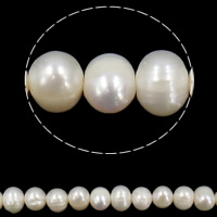 Potato Cultured Freshwater Pearl Beads, natural, white, 8-9mm, Hole:Approx 0.8mm, Sold Per 15 Inch Strand