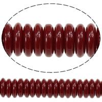Koraliki z żywicy, żywica, Okrąg, czerwony, 3x10mm, otwór:około 1.8mm, długość:około 16 cal, 20nici/wiele, około 132/Strand, sprzedane przez wiele